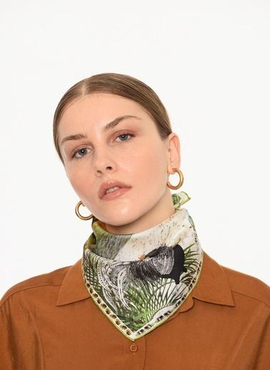 Selin Küçüksöz Mini Fular,Cep Mendili Renkli